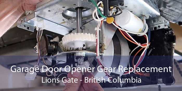 Garage Door Opener Gear Replacement Lions Gate - British Columbia