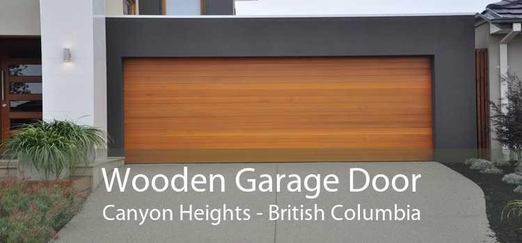 Wooden Garage Door Canyon Heights - British Columbia