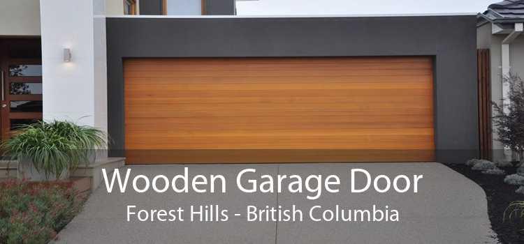 Wooden Garage Door Forest Hills - British Columbia