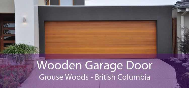 Wooden Garage Door Grouse Woods - British Columbia