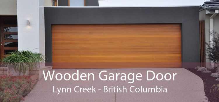 Wooden Garage Door Lynn Creek - British Columbia