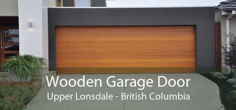 Wooden Garage Door Upper Lonsdale - British Columbia